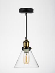 "cheap -1-Light BriLight 20(8"") Mini Style Pendant Light Metal Glass Painted Finishes Traditional / Classic 110-120V / 220-240V"