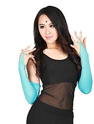 cheap -Dance Accessories Dance Glove Women's Performance Polyester Crystals / Rhinestones Half Sleeve Gloves / Latin Dance