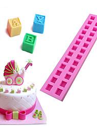Недорогие -3d английские буквы силиконовые формы для ребенка diy строительный блок помадка торт шоколад