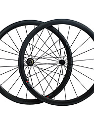 cheap -700CC Wheelsets Cycling 23 mm Road Bike Carbon / Full Carbon Clincher 16-32# Spokes 38 mm