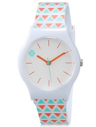 Недорогие -Наручные часы Кварцевый Оранжевый Cool Цветной Аналоговый Дамы Конфеты На каждый день - Белый