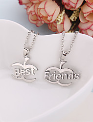 cheap -Men's Women's Pendant Necklace Fruit life Tree Best Friends Friendship Relationship Work Casual European Fashion Silver Plated Alloy Silver Necklace Jewelry For Daily Casual Sports