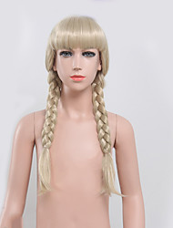 cheap -blonde color women synthetic wigs fashion long wave european and american wigs