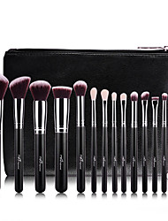 cheap -Professional Makeup Brushes Makeup Brush Set 15pcs Professional Full Coverage Artificial Fibre Brush Wood Makeup Brushes for Blush Brush Eyeshadow Brush Makeup Brush Set Powder Brush