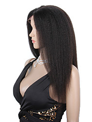 cheap -8 12inch 100 brazilian human hair wigs glueless full lace wigs kinky straight hair wigs