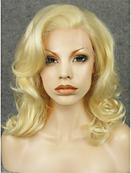 cheap -Synthetic Wig Curly Blonde Synthetic Hair Blonde Wig Women's Lace Front