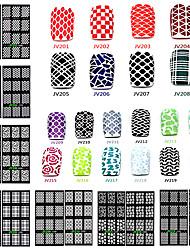 cheap -20 designs set nail art sticker nail hollow stencil stickers fish scale pattern diy nail stamping polish guide tools