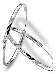 cheap -Women's Hoop Earrings Statement Inlaid Earrings Jewelry Silver For Party Daily