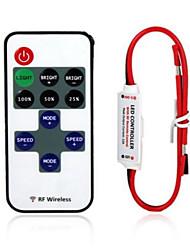abordables -12a seule couleur a mené le contrôleur à distance sans fil de dimmer rf de bande pour la bande menée par 3528 2835 5050 5630 5730