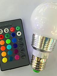 cheap -1pc 3 W LED Smart Bulbs 120 lm E26 / E27 A60(A19) 1 LED Beads High Power LED Dimmable Remote-Controlled Decorative RGB 85-265 V / 1 pc / RoHS