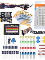 Недорогие -потенциометр Начальный стартовый комплект макетная кабель резистор конденсатор водить для Arduino комплекта обучения