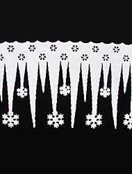 Недорогие -2 шт белый лед полоса с снежинки рождественские украшения Xmas орнамент праздник партии поставок Новогоднее украшение