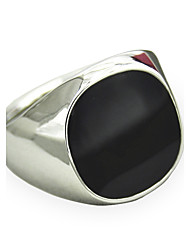 cheap -Men's Statement Ring Signet Ring Synthetic Sapphire Black Gemstone Silver Golden Synthetic Gemstones Alloy Personalized Vintage Punk Jewelry