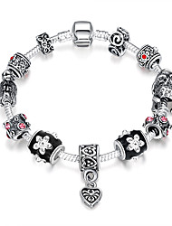 cheap -Women's Bead Bracelet Beaded European Fashion Folk Style Synthetic Gemstones Bracelet Jewelry Silver For Party Daily Casual / Silver Plated / Sterling Silver / Sterling Silver