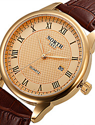 cheap -Women's Sport Watch Wrist Watch Quartz Leather Black / Brown 30 m Water Resistant / Waterproof Calendar / date / day Cool Analog Classic Vintage Casual Fashion - Brown / Gold Black / Silver White