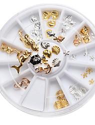 cheap -1set-nail-art-decoration-manicure-alloy-ornaments-mermaid-tortoise-shells-in-conch