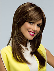 cheap -Synthetic Wig Straight Straight Wig Medium Length Long Very Long Chestnut Brown Synthetic Hair Women's Brown