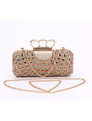 cheap -Women Bags Special Material Evening Bag Crystal/ Rhinestone for Wedding Event/Party Formal All Seasons Black Silver Golden
