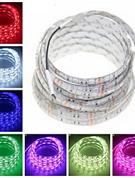 cheap -ZDM 1PC Waterproof  IP65 5m Flexible LED Light Strips 300 x 5050 SMD 10mm LEDs Warm White Pink Cold White Cuttable   Linkable  Suitable for Vehicles  Self-adhesive DC12V