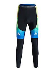 cheap -Miloto Men's Cycling Tights Bike Tracksuit Tights Pants Thermal / Warm Windproof Fleece Lining Sports Polyester Coolmax® Velvet Winter Black / Blue Clothing Apparel Bike Wear / Breathable / Quick Dry