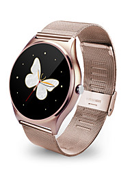 cheap -Smart Watch 9.8mm Thin Metal Round Smartwatch Heart Rate Sync Call Push Message Relogio for Iphone IOS Samsung Android
