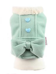 abordables -Chien Manteaux Hiver Vêtements pour Chien Vert Rose Costume Coton Nœud papillon Garder au chaud XS S M L XL