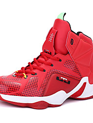 cheap -Men's Comfort Shoes Leather Spring / Fall Athletic Shoes Basketball Shoes Slip Resistant Black / Red / Gold / Red / Lace-up / EU40