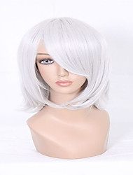 cheap -the latest styles no flaws d gray man allen walker silvery grey short straight man cosplay wig Halloween