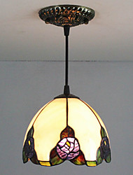 cheap -25W Pendant Light ,  Traditional/Classic / Tiffany Painting Feature for Mini Style Glass Bedroom / Entry
