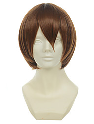 cheap -Synthetic Wig Cosplay Wig Straight Straight Wig Short Medium Auburn Synthetic Hair Women's Brown