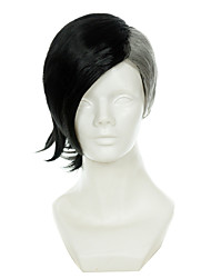 cheap -tokyo ghoul mr bai half black half white special styling halloween wigs synthetic wigs costume wigs Halloween
