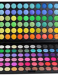 Недорогие -# / 120 цветов Тени / Хаки / Кисти для макияжа Глаза Натуральный Цветной глянец Повседневный макияж Составить косметический / Матовое стекло / Отблеск