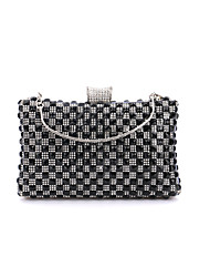 cheap -Women's Bags Velvet Evening Bag Crystal / Rhinestone Solid Colored Wedding Party Event / Party Black