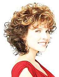 cheap -Synthetic Wig Curly Curly Wig Brown Synthetic Hair Women's Ombre Hair Brown OUO Hair