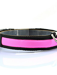cheap -Dog Collar Light Up Collar Strobe / Flashing Solid Colored Nylon Yellow Red