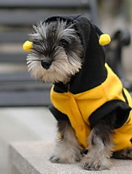 cheap -Cat Dog Costume Hoodie Puppy Clothes Animal Cosplay Dog Clothes Puppy Clothes Dog Outfits Yellow Costume for Girl and Boy Dog Cotton XXS XS S M L XL