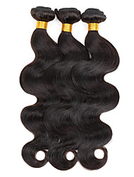 cheap -3 Bundles Indian Hair Body Wave Human Hair Natural Color Hair Weaves / Hair Bulk Human Hair Weaves Human Hair Extensions / 8A