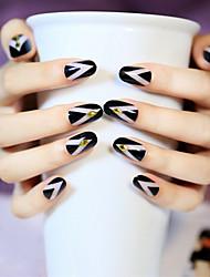 cheap -24pcs-set-nail-strips-simple-lines-riveting-good-fashion-collocation