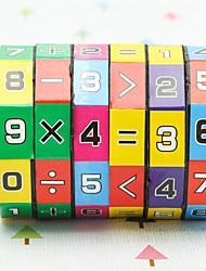 Недорогие -Кубики-головоломки Головоломки судоку Игрушки для обучения математике Экологичные пластик Классика Детские Мальчики Девочки Игрушки Подарок