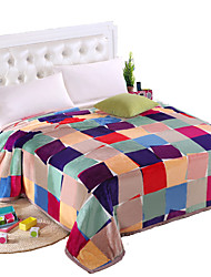 cheap -Bed Blankets, Stripe 100% Polyester Thicken Blankets