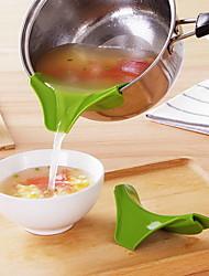 cheap -Silicone Funnel Pour Spout Pot Round Deflector Edge Kitchen Tools