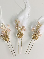 cheap -Acrylic / Rhinestone / Feather Flowers / Hair Pin with 1 Wedding / Special Occasion / Casual Headpiece