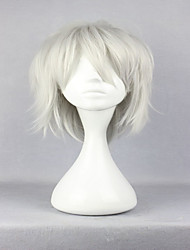 cheap -fashion male dramatical murder dmmd clear silvery grey 35cm short cosplay wig Halloween
