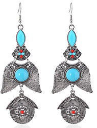 cheap -Women's Turquoise Drop Earrings Ladies Personalized western style Sterling Silver Resin Earrings Jewelry Gold / Silver For Party Daily Casual