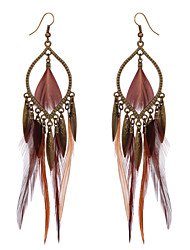 cheap -Women's Drop Earrings Wings Native American Feather Earrings Jewelry Brown For Party Casual
