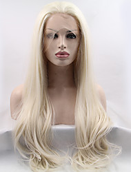 cheap -Synthetic Wig Straight Straight Lace Front Wig Blonde Long Blonde Synthetic Hair Women's Natural Hairline Black Blonde