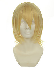 cheap -kingdom hearts series snow light mixed gold versatile cocked short halloween wigs synthetic wigs costume wigs Halloween