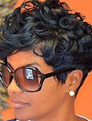 cheap -Synthetic Wig Wavy Wavy Wig Natural Black #1B Synthetic Hair Women's Black