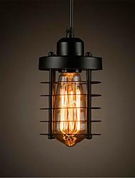 Недорогие -10CM Мини / LED / Конструкторы Подвесные лампы Металл Цилиндр Окрашенные отделки Ретро 110-120Вольт / 220-240Вольт