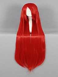 cheap -high quality synthetic classical women wig 100cm long straight red cosplay custome party wig Halloween